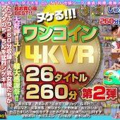 【VR】ヌケる!!!ワンコイン4KVR 26タイトル260分 第2弾