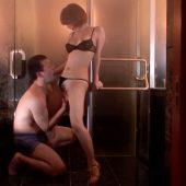 [里美ゆりあ] 美女とバスルームで相互愛撫 激しいフェラ から怒涛のファック